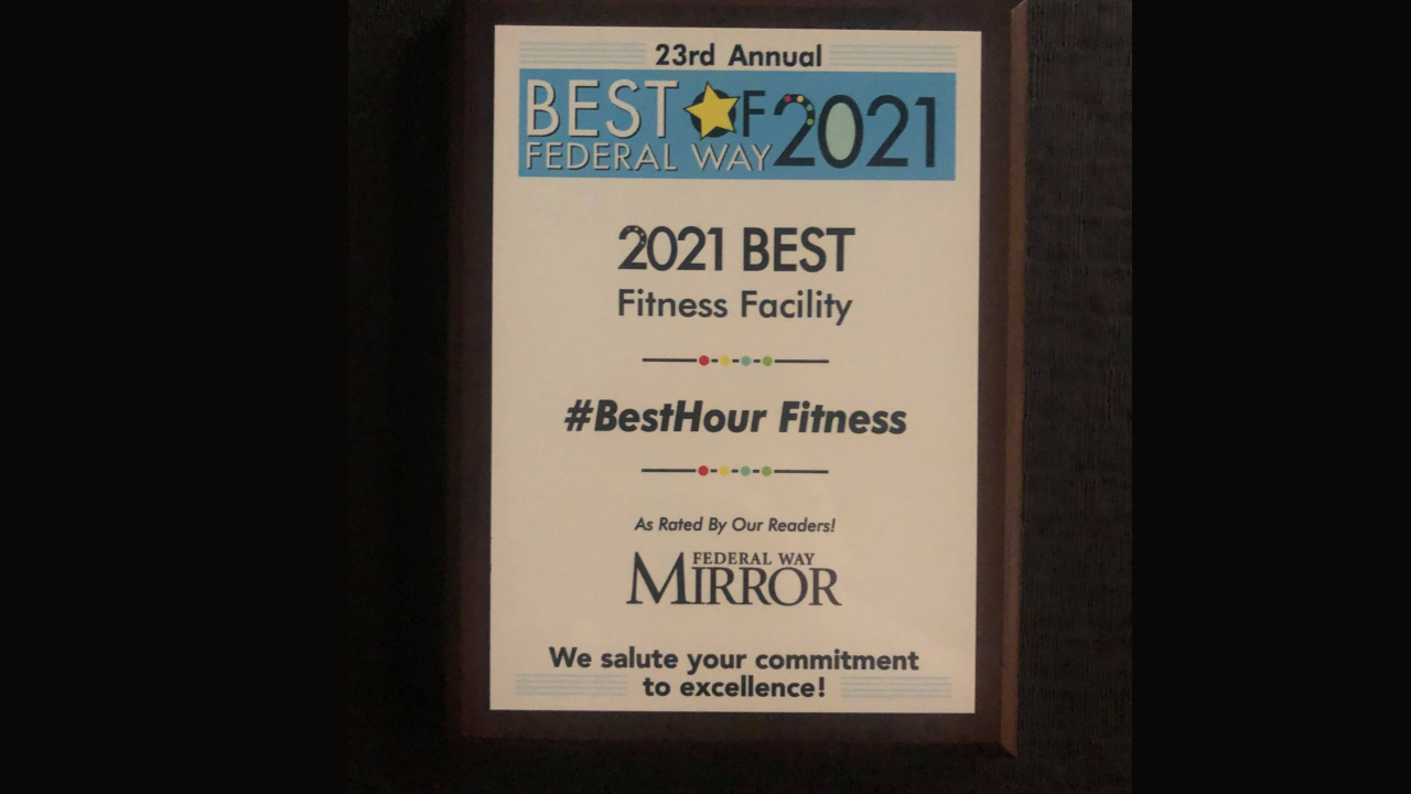 2021 Best Fitness Facility in Federal Way Award