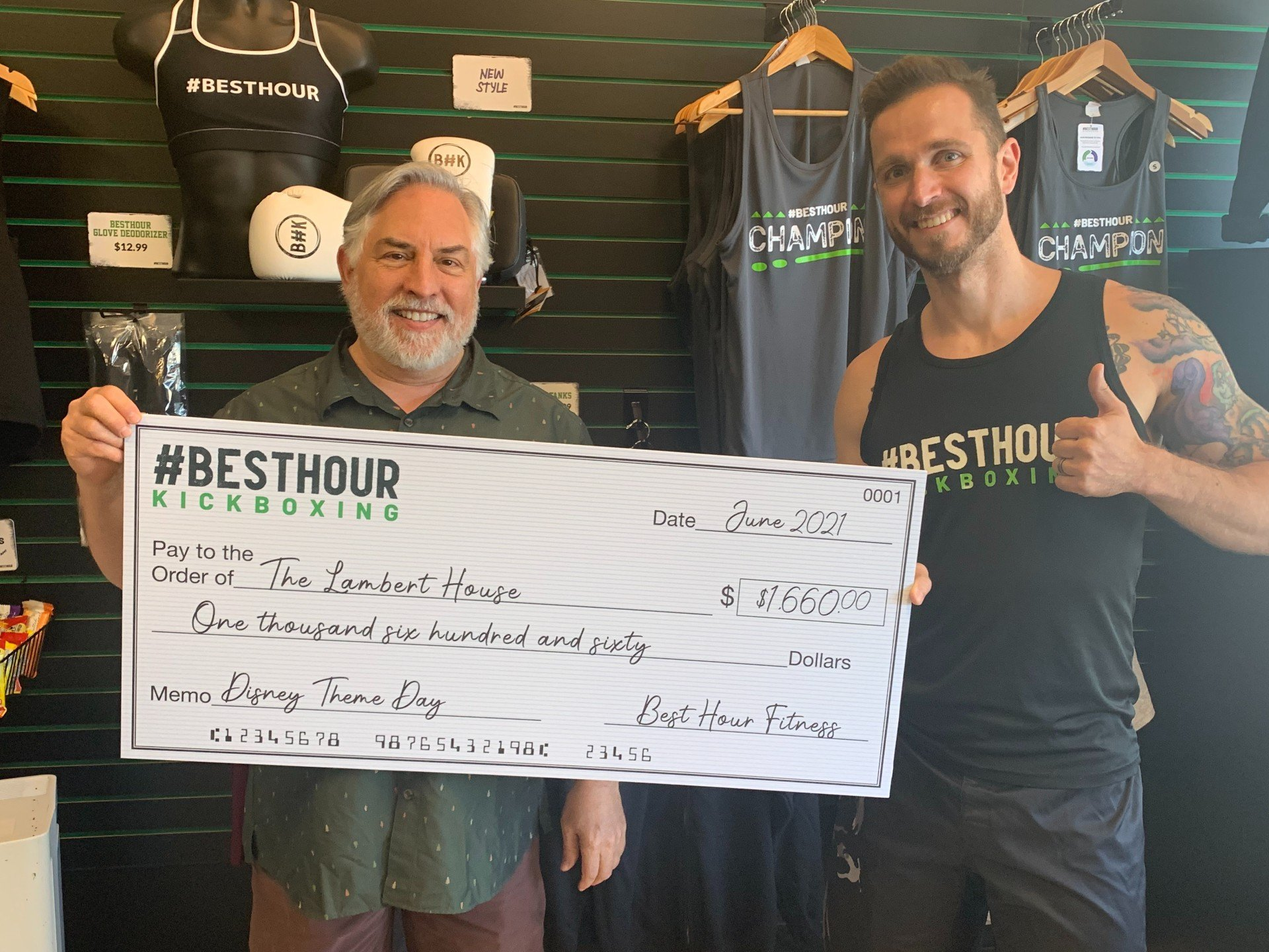 You are currently viewing #BestHour Kickboxing clients raise $1,660 to help Seattle's The Lambert House